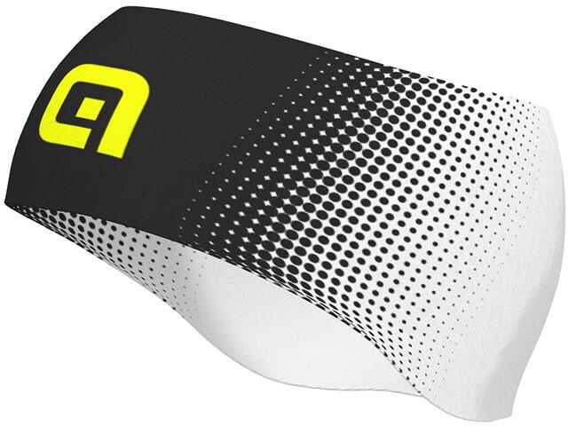 Alé Cycling Dots Headband black-fluo yellow